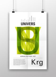 Univers poster #typography #poster #graphicdesign