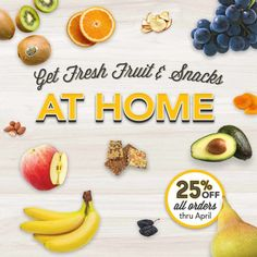 Off All Home Delivery Orders! - Delivery Food - Ideas of Delivery Food - The FruitGuys Healthy Fruits, Healthy Snacks, Fresh Fruit Delivery, Vegetable Delivery, Healthy Shopping, Order Food, Fruit Snacks, Fruit In Season, Fresh Fruits And Vegetables