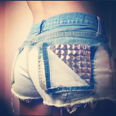 Made studded shorts #diy