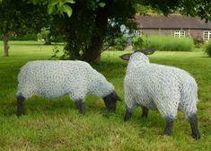 British Artist Barry Sykes, creates these beautiful wire sculptures of animals, . Chicken Wire Art, Chicken Wire Sculpture, Chicken Wire Crafts, Wire Art Sculpture, Wire Sculptures, Abstract Sculpture, Bronze Sculpture, Garden Sculpture, Barbed Wire Art