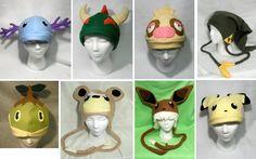 Pokemon Hats Collection 1 by *Higginstuff on deviantART