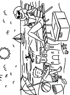 sand castle fun coloring page - Fun Color Sheets