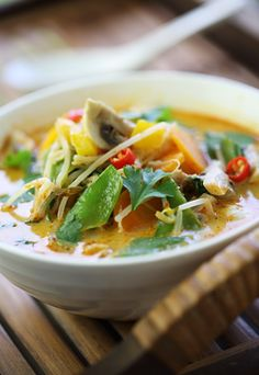 Thai-spiced vegetable soup