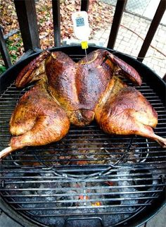 The Ultimate Smoked Turkey ~ Smoked On The Barbecue Or The Grill Or In The Oven (See comments!)    For an alternative to plain old roasting this Christmas. The guide is DETAILED, there are videos, pictures and what-not. This Christmas, turkey just got serious!