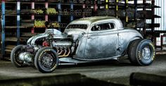 Eddie's Chops shop 1934 Ford Twin-Turbo Big-Block Coupe