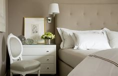 Taupe and white bedroom