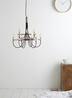 Copper Frederica Candelabra Ceiling Light