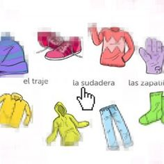Spanish game for kids to learn the basic vocabulary about clothes by rockalingua Spanish Games For Kids, Learning Games For Kids, Spanish Activities, Fun Games For Kids, Activities For Kids, Spanish Class, Teaching Spanish, Playground Games, School Tool