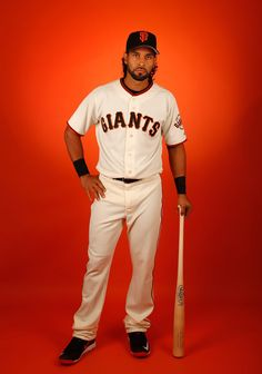 Angel Pagan #16 of the San Francisco Giants poses for a portrait during spring training photo day at Scottsdale Stadium on February 27, 2015 in Scottsdale, Arizona. (February 26, 2015 - Source: Christian Petersen/Getty Images North America)