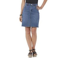Jaclyn Smith Women's Denim Skirt