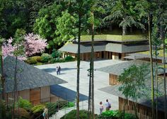 Kengo Kuma Designs Cultural Village for Portland Japanese Garden,Cultural Village. Image © Kengo Kuma & Associates