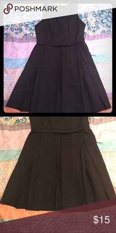 Black A-line dress Chic pleated A-line dress. Would look great with statement jewelry and heels 👠 Make me an offer 😊 Fits a 25/26 waist. Forever 21 Dresses Mini