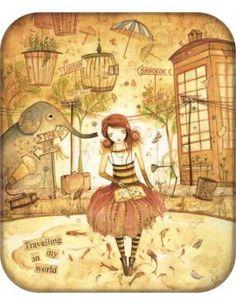 "Carte d'Art ""Travelling in Dreams"""