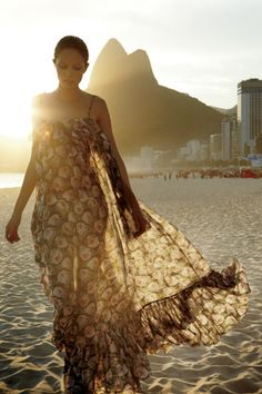 Floral print by D&G; in Ipanema. Photo by James Macari