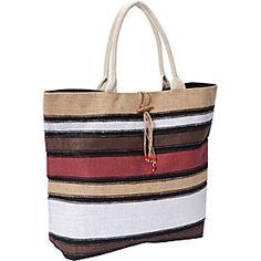 Earth Axxessories Striped Jute Tote Bag via eBags.com!