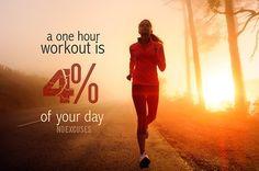 No excuses  - http://myfitmotiv.com - #myfitmotiv #fitness motivation #weight #loss #food #fitness #diet #gym #motivation