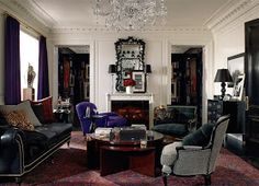 """Ralph Lauren Home""""Classic Furniture shapes from our latest Home Collection, Apartment No. OneExplore Now Ralph Lauren Home Living Room, Home And Living, Modern Living, Kensington Palace Apartments, Up House, Pent House, Classic Furniture, Blue Furniture, Deco Furniture"""