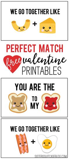 Perfect Match Valentines from sisterssuitcaseblog.com