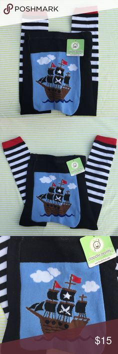 Doodle Pants Pirate Size Large Baby Leggings  Cute Doodle Pants Pirate Baby Leggings NWT Size Large ⭐️super cute for photos-these retail New for $25! I have many in my closet-so bundle for a great deal! doodle pants Bottoms Leggings