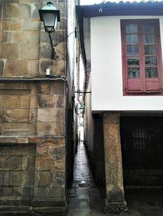 Callejón de Entrerúas. Santiago de Compostela. Galicia. Spain