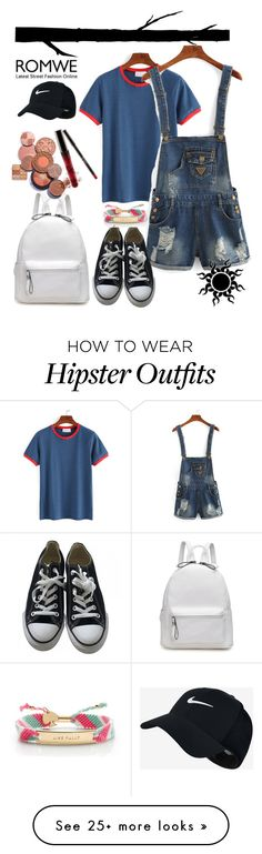"""Romwe"" by demi-demetria-lovato on Polyvore featuring Dot & Bo, Converse, NIKE and Kate Spade"
