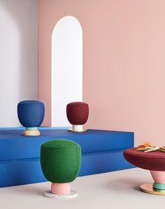 Masquespacio designs toadstool-shaped furniture for Missana