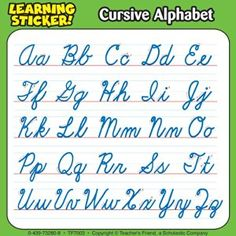 Worksheets Pinakatay Alphabet handwriting chart cursive alphabet classroom wow com image results