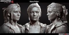 Elena has been my heroine since I've seen her first time in Uncharted 2. You know how excited I was  as a fan of Uncharted when I took over her for Uncharted 4. Although it was kinda tough time to develop Elena who can make everyone-me, Neil Druckmann and all fans who love Elena- happy,  I'm so glad when I see her smile in the game I can also smile. I was responsible for her overall look including head and her all outfits. I focused on modeling and texturing of her head/facial wrinkles…