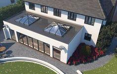 Kitchen Extension Open Plan, House Extension Plans, House Extension Design, Roof Extension, Orangery Extension Kitchen, Living Room Extension Ideas, Bungalow Extensions, House Extensions, Kitchen Extensions