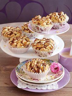 Buttermilch-Muffins mit Walnuss-Streuseln