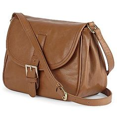 MNG by Mango® Medium Brown Flap-Top Handbag - jcpenney