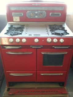 Vintage Wedgewood Stove Red