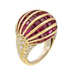 Arfan Ruby & Diamond 'Balloon' Ring