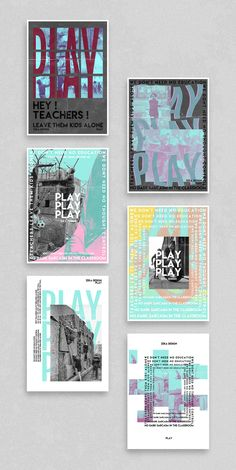 Poster Design Collection based on Play and Pink Floyd, Minimal Design With photography, combined with abstract and geometric shapes and typography design. Poster Design Layout, Creative Poster Design, Poster Design Inspiration, Graphic Design Layouts, Graphic Design Projects, Graphic Design Posters, Graphic Designers, Poster Art, Typography Poster