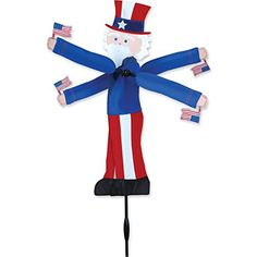 Wind Sculptures n Spinners  Whirligig Spinner - 20 In. Uncle Sam Porch Makeover ** This is an Amazon Associate's Pin. Click the image to find out more from the website.