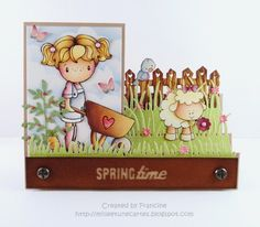 Card by Francine - milleetunecartes.blogspot.com #cardmaking #craft #crafting #papercrafts #crafts #coloring #copic #card #carte #scene #garden #spring