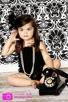 Cute idea for a little girl photo shoot! Adorbs by margie could use her princess phone with a princess dress