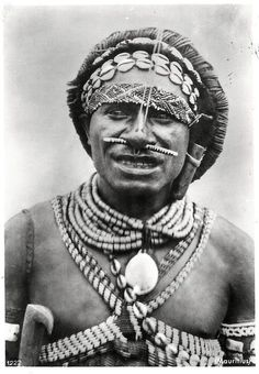 Indonesia ~ New Guinea   Boro Meso / Burmeso Papua Man ~ scanned postcard published by G St. in the 50s