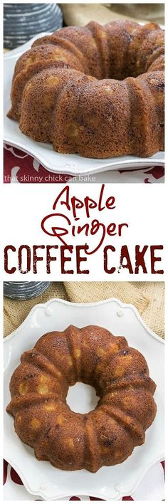 Apple Ginger Coffee Cake - A moist, delectable brunch, breakfast or dessert recipe! Full of autumn spices and crystallized ginger. Apple Recipes, Fall Recipes, Baking Recipes, Holiday Recipes, Easter Recipes, Cupcakes, Cupcake Cakes, Bundt Cakes, Delicious Cake Recipes