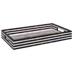 Black and White Shell Striped Tray @Zinc_door #zincdoor #stripes #blackandwhite #tray