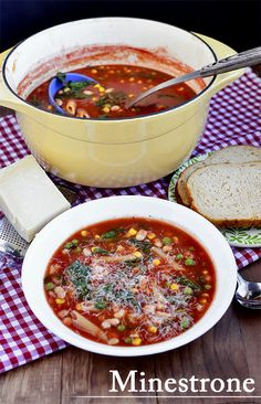 We're in the mood for healthy, filling Minestrone! Learn how to make it from BHG blogger @Ann Brincks Girl Eats: http://www.bhg.com/blogs/delish-dish/2013/01/10/in-season-eats-healthy-filling-minestrone/