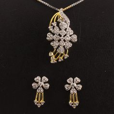20 best pendant sets images on pinterest pendant set white stone designer pendant set cz white stone studded with earring 2 nos gold with aloadofball Image collections