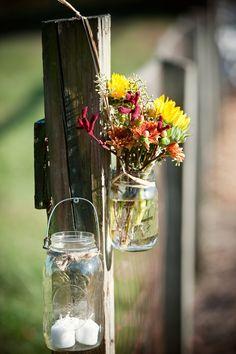 Mason Jar Wedding Flowers