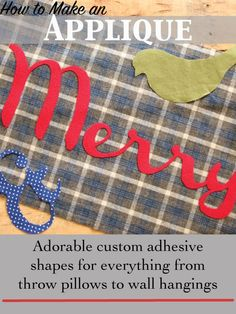 Applique 101.  Easy to follow step by step in lots of details about all aspects of how to make an applique decoration.