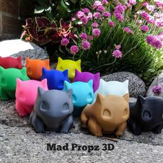 Bulbasaur Planter Now Available in More Colors Bonus by MadPropz3d