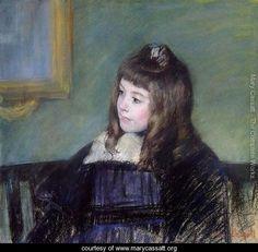 """Portrait de Marie-Therese Gaillard,"" Mary Cassatt, pastel on paper, 21 x 22 private collection. Edgar Degas, Georges Seurat, Renoir, Monet, Mary Cassatt Art, American Impressionism, Impressionist Art, Berthe Morisot, American Artists"