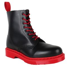 Martens Boots 1460 Black and Red Soled Cheap