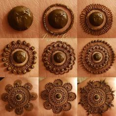 Getting henna applied from some professional is a pricey task. So we have brought to you list of Mehndi Designs Step By Step Tutorials. Circle Mehndi Designs, Round Mehndi Design, Mehndi Designs For Girls, Henna Art Designs, Dulhan Mehndi Designs, Mehndi Designs For Fingers, Modern Mehndi Designs, Wedding Mehndi Designs, Mehndi Design Pictures