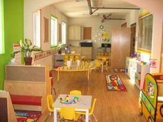 Look at that beautiful natural light! That is a wonderful room for children to play and learn in!