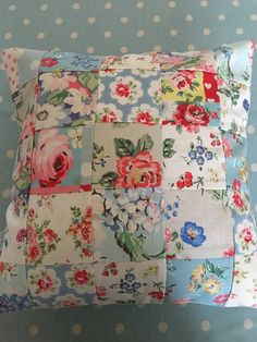 Cath Kidston fabric patchwork cushion cover £8.50